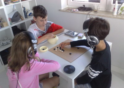 Game of Go during Tomatis Therapy, Fundacja Audemus Audire, Jozefoslaw 2018