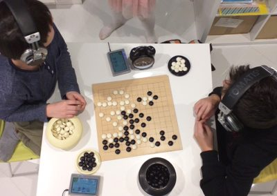 Game of Go during Tomatis Therapy, Fundacja Audemus Audire, Jozefoslaw 2020